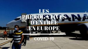 Infographie Les prérogatives d'entrée en Europe Ayruu Royaume-Uni France Belgique Allemagne