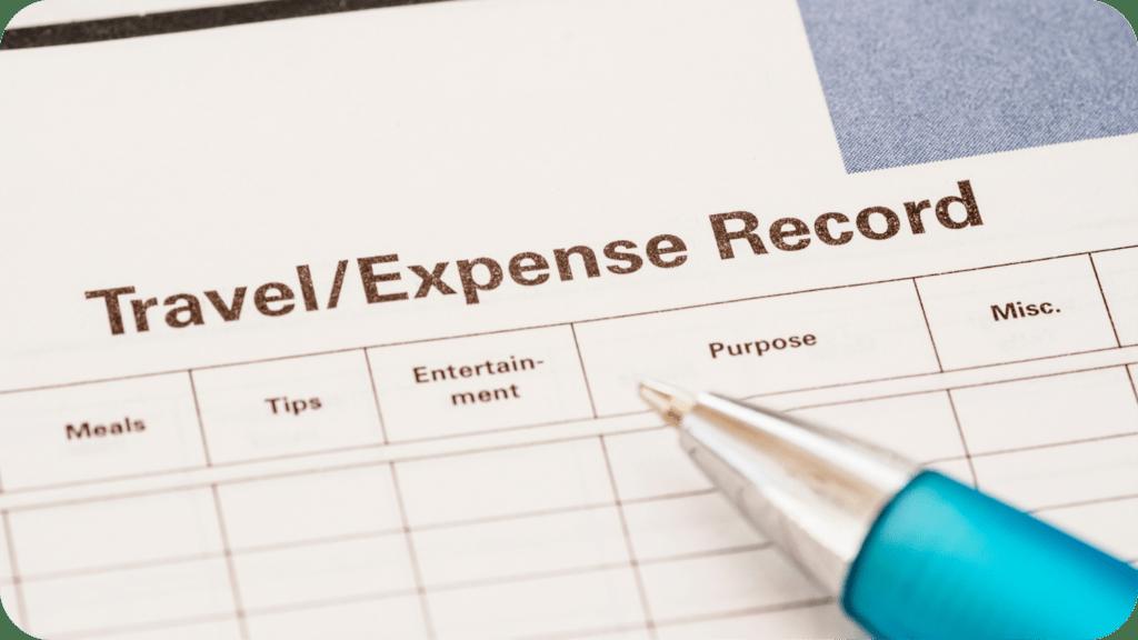 Travel Expense Record Sheet Ayruu
